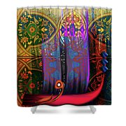 Calligraphy 121 2 Shower Curtain