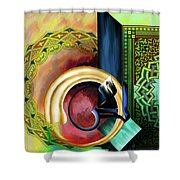 Calligraphy 123 3 Shower Curtain