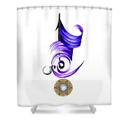 Calligraphy 21 1 Shower Curtain