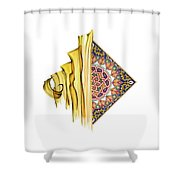 Calligraphy 24 2 Shower Curtain