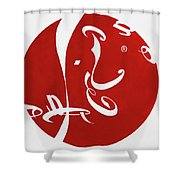 Calligraphy Cola Shower Curtain