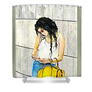 Calling And Smoking Shower Curtain