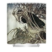 Calling Shapes And Beckoning Shadows Dire Shower Curtain