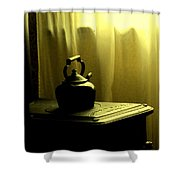 Calling The Kettle Black Shower Curtain