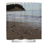 Calm Beach Sand Shower Curtain