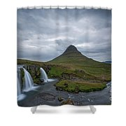 Calm Before The Storm At Kirkjufell Shower Curtain
