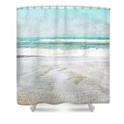 Calm Coast- Art By Linda Woods Shower Curtain