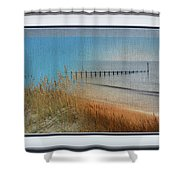 Calm Dawn Tide Montage Shower Curtain