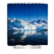 Calm Ice Shower Curtain