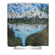 Calm Lake Shower Curtain