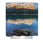 Calm O'hara Lake And Reflection At Sunrise Shower Curtain