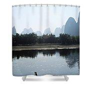 Calm On The Li River Shower Curtain by Gloria & Richard Maschmeyer - Printscapes