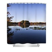 Calm On The Pond Shower Curtain