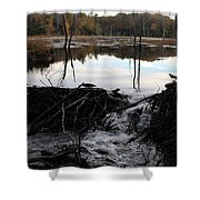 Calm Photo Of Water Flowing Shower Curtain