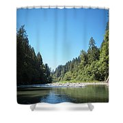 Calm Sandy River In Sandy, Oregon Shower Curtain