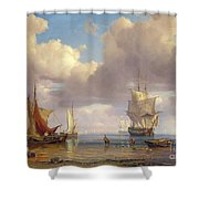 Calm Sea Shower Curtain by Adolf Vollmer