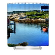 Calm Water At Peggys Cove #3 Shower Curtain