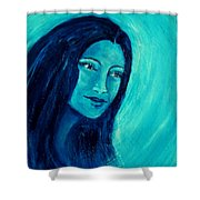 Calming Blues Shower Curtain