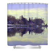 Calming Lavendar Scene Shower Curtain