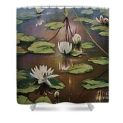Calming Pond Shower Curtain