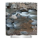 Calming Runnels Shower Curtain