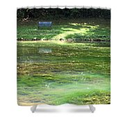 Calming Solitude Shower Curtain by Valeria Donaldson