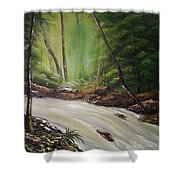 Calming Spring Shower Curtain