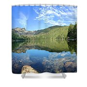 Calmness Speaks Shower Curtain