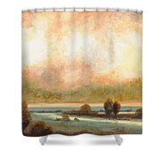 Calor Bianco Shower Curtain