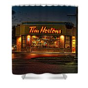 Calories And Caffene Shower Curtain