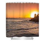 Caloundra Beach Sunset Shower Curtain
