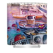 Calpe Harbour 03 Shower Curtain