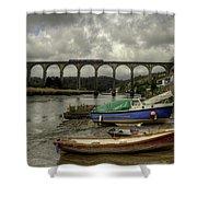 Calstock Viaduct Shower Curtain