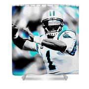 Cam Newton Letting It Fly Shower Curtain