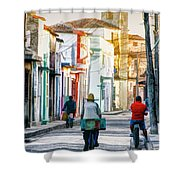 Camaguey Street 11 Shower Curtain