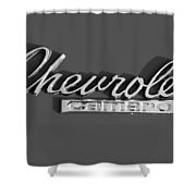 Camaro Logo In Black And White Shower Curtain