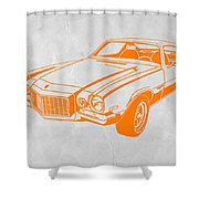 Camaro Shower Curtain by Naxart Studio