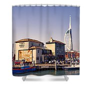 Camber Dock, Old Portsmouth Shower Curtain