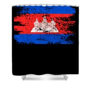 Cambodia Shirt Gift Country Flag Patriotic Travel Asia Light Shower Curtain