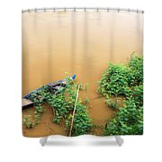 Cambodian Fishing Boat Shower Curtain