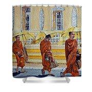 Cambodian Harmony Shower Curtain
