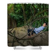Cambodian Jungle Swing Shower Curtain