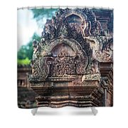 Cambodian Temple Details Banteay Srey Shower Curtain