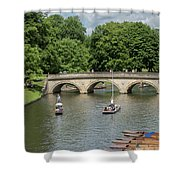 Cambridge Punting On The River Shower Curtain