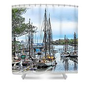 Camden Bay Harbor Shower Curtain
