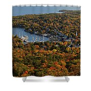 Camden Harbor In The Fall Shower Curtain