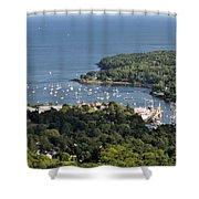 Camden Harbor Maine Shower Curtain