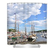 Camden Maine Harbor Shower Curtain