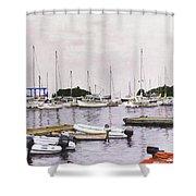 Camden Maine Marina Shower Curtain