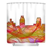 Camden Nj Skyline Shower Curtain